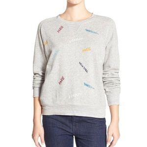 NWOT Madewell Embroidered Throwback Cities Sweater